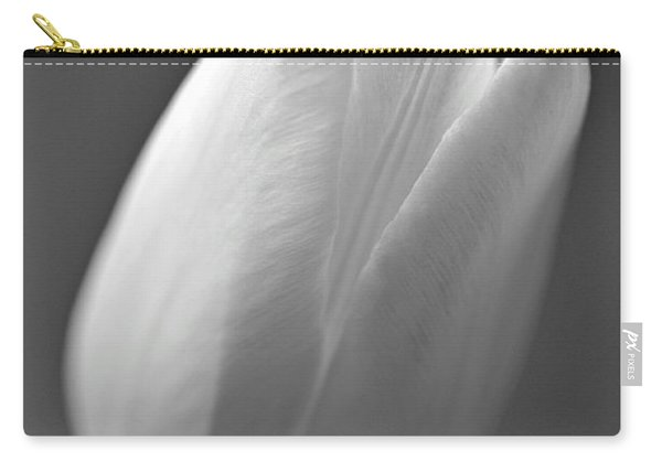 Tulip In Black And White Carry-all Pouch