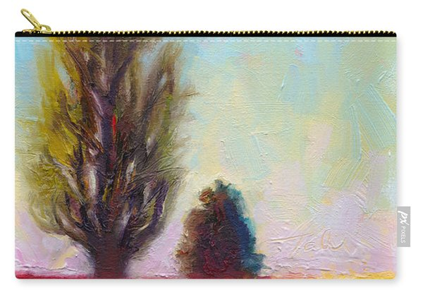 Carry-all Pouch featuring the painting Tulip Sentinels by Talya Johnson