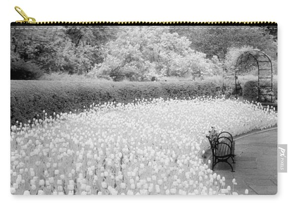 Tulips And Bench II Carry-all Pouch