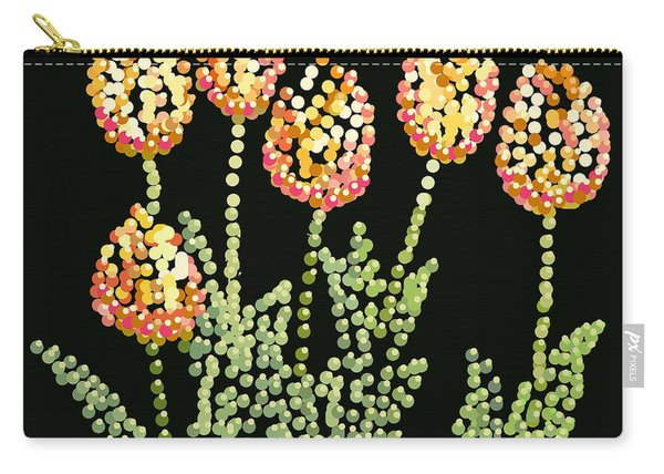 Tulips Bedazzled Carry-all Pouch