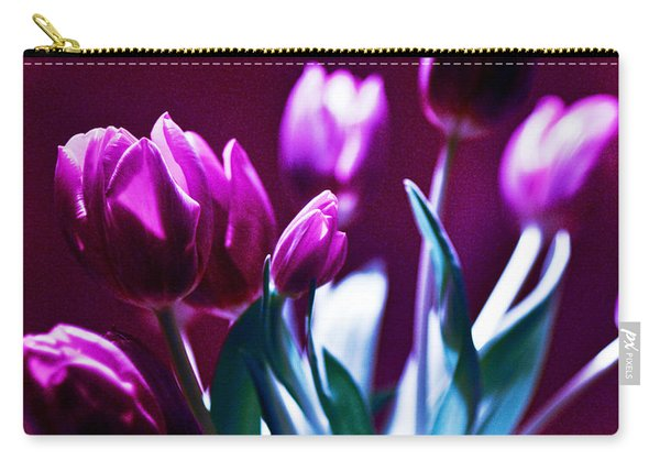 Purple Tulips Carry-all Pouch