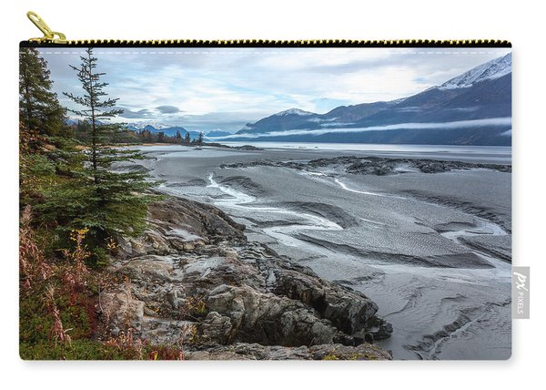 Carry-all Pouch featuring the photograph Turnagain Tide Flats by Tim Newton