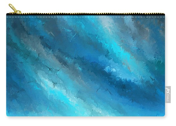 Turquoise Memories - Turquoise Abstract Art Carry-all Pouch