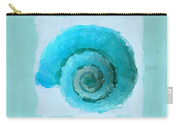 Turquoise Seashells IIi Carry-all Pouch