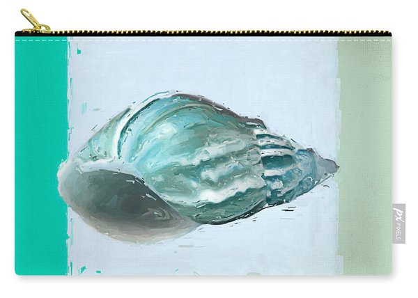 Turquoise Seashells Xiv Carry-all Pouch