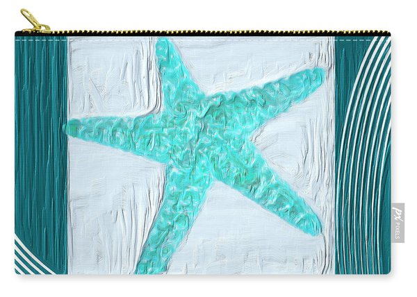 Turquoise Seashells Xvi Carry-all Pouch