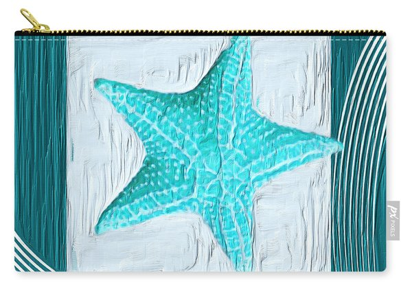 Turquoise Seashells Xviii Carry-all Pouch