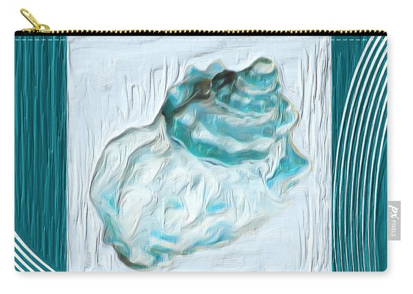 Turquoise Seashells Xxiv Carry-all Pouch