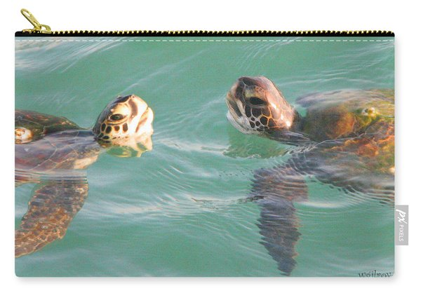 Sea Turtles Talking Carry-all Pouch