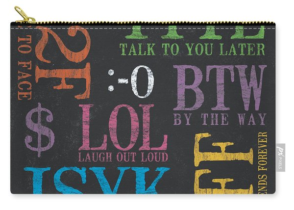 Tween Textspeak 4 Carry-all Pouch