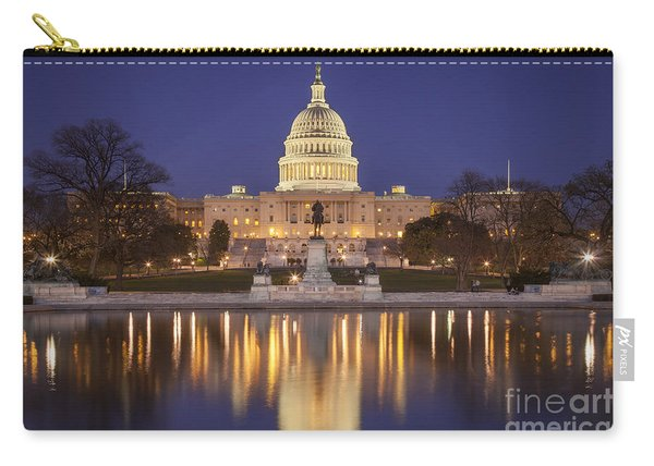 Carry-all Pouch featuring the photograph Twilight At Us Capitol by Brian Jannsen