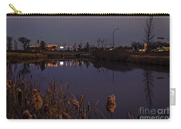 Twilight Over The River In Weyburn. Carry-all Pouch