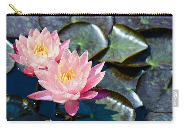 Two Pink Waterlilies Carry-all Pouch