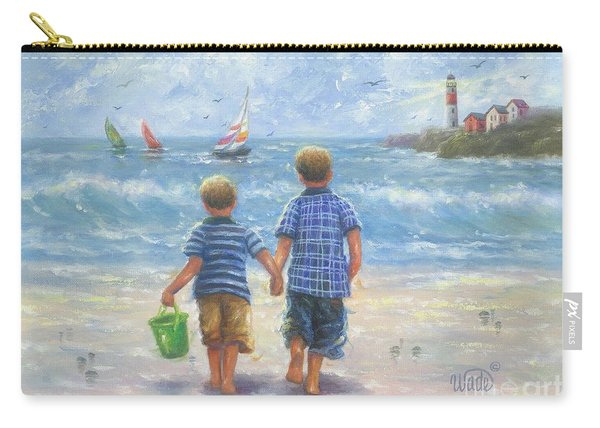 Two Beach Boys Walking Carry-all Pouch