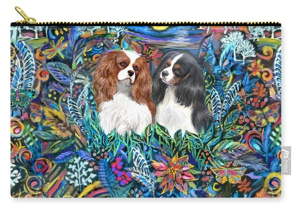 Two Cavaliers In A Garden Carry-all Pouch
