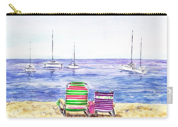 Two Chairs On The Beach Carry-all Pouch