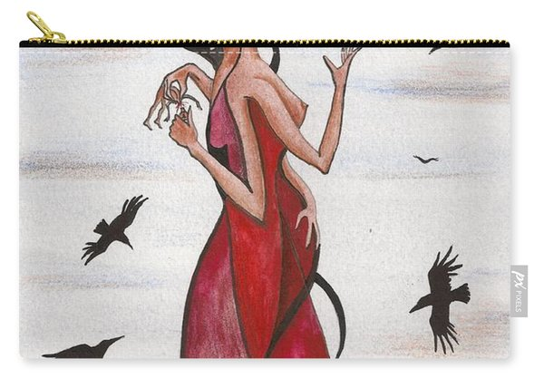 Two Faces Of Life Carry-all Pouch