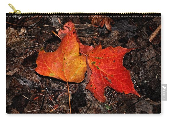Two Fallen Autumn Leaves Carry-all Pouch