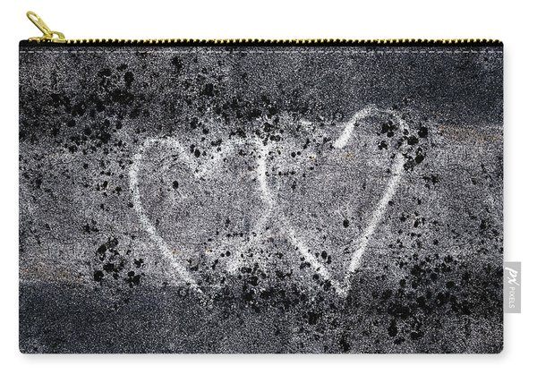 Two Hearts Graffiti Love Carry-all Pouch