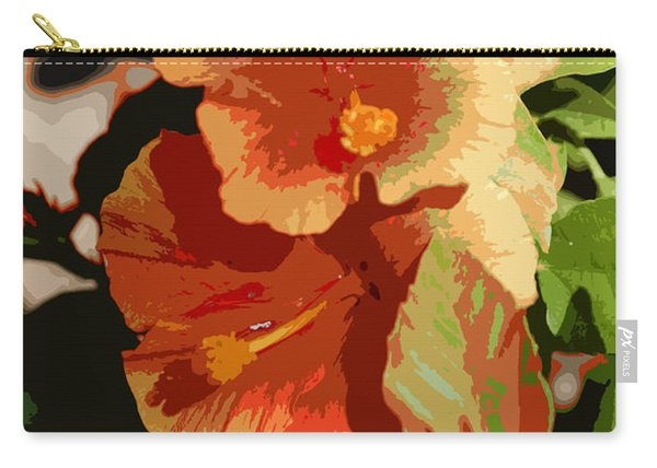 Two Hibiscus Abstract Carry-all Pouch