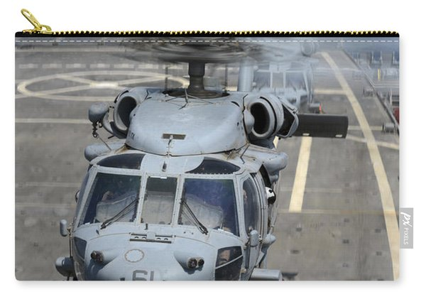 Two Mh-60s Sea Hawk Helicopters Take Carry-all Pouch