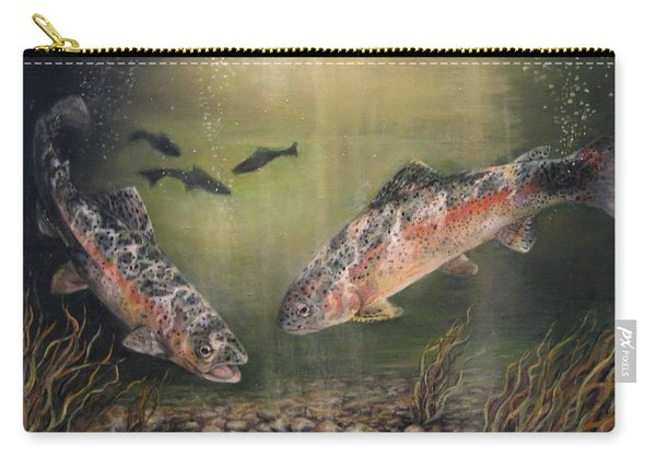 Two Rainbow Trout Carry-all Pouch