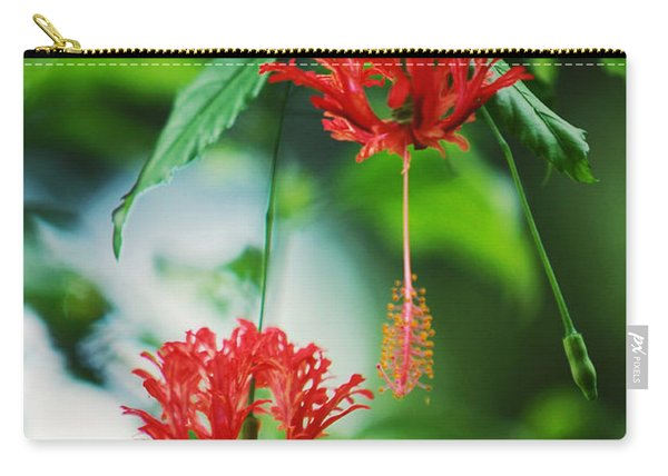 Two Red Hibiscus Carry-all Pouch