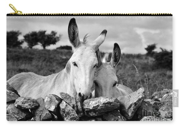 Two White Irish Donkeys Carry-all Pouch