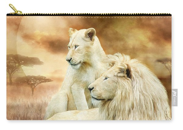 Two White Lions - Together Carry-all Pouch