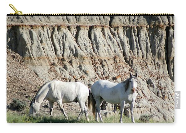 Two Wild White Stallions Carry-all Pouch