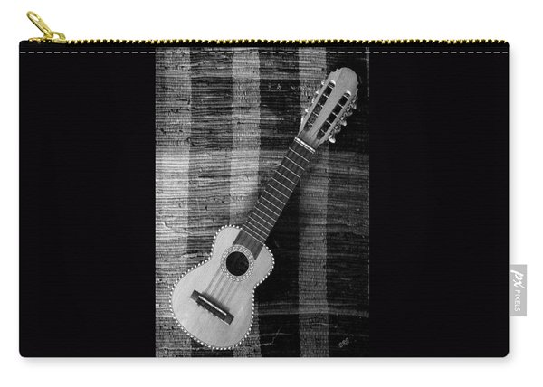 Ukulele Still Life In Black And White Carry-all Pouch