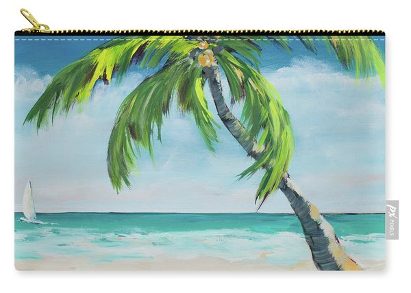 Under The Palm's Breeze I Carry-all Pouch