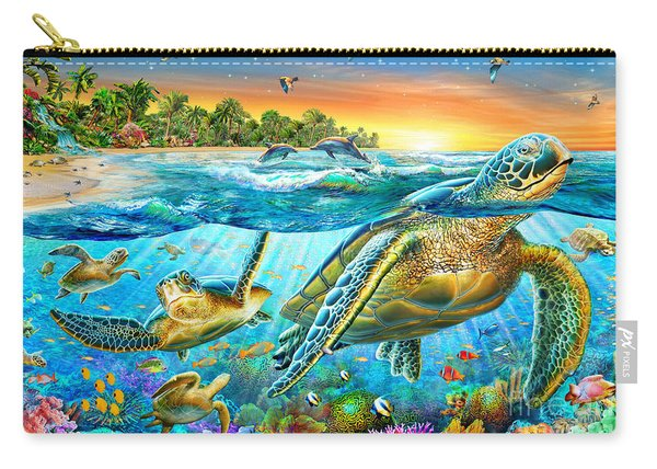 Underwater Turtles Carry-all Pouch