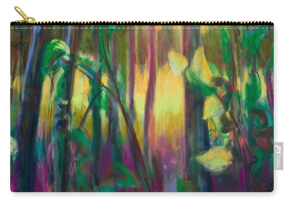 Carry-all Pouch featuring the painting Unexpected Path - Through The Woods by Talya Johnson