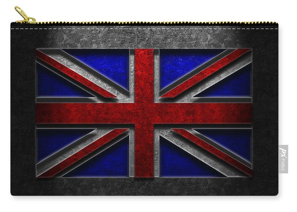 Union Jack Stone Texture Carry-all Pouch
