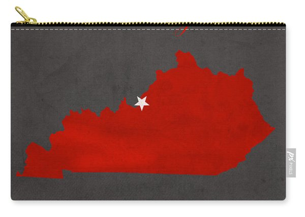 University Of Louisville Cardinals Kentucky College Town State Map Poster Series No 059 Carry-all Pouch