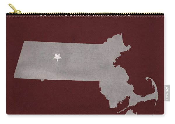 University Of Massachusetts Umass Minutemen Amherst College Town State Map Poster Series No 062 Carry-all Pouch