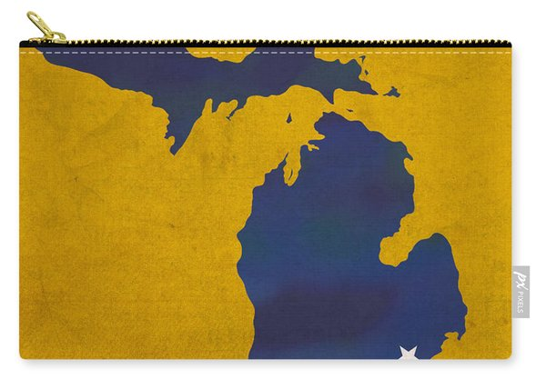 University Of Michigan Wolverines Ann Arbor College Town State Map Poster Series No 001 Carry-all Pouch