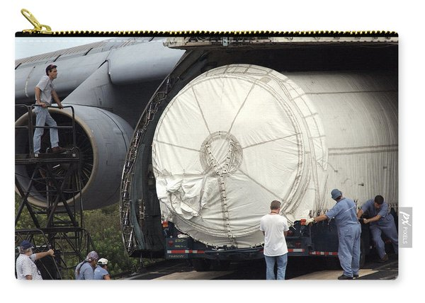 Unloading A Titan Ivb Rocket Carry-all Pouch