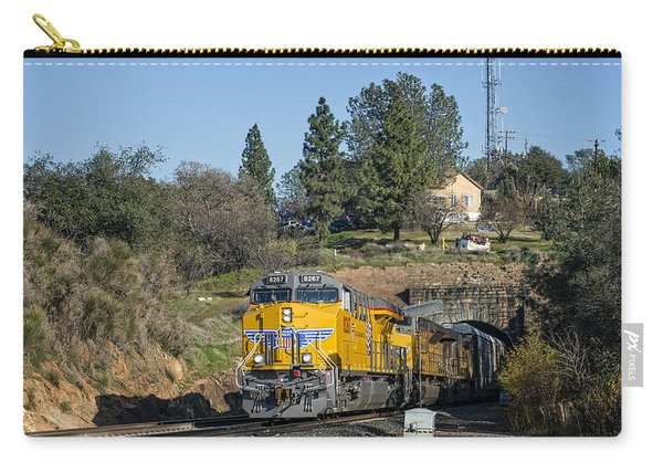 Carry-all Pouch featuring the photograph Up 8267 by Jim Thompson