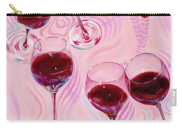 Carry-all Pouch featuring the painting Uplifting Spirits  by Sandi Whetzel