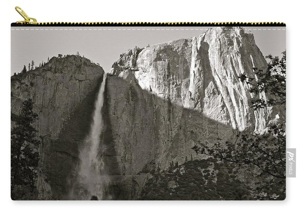 Upper Yosemite Falls Composition In Triangles Carry-all Pouch