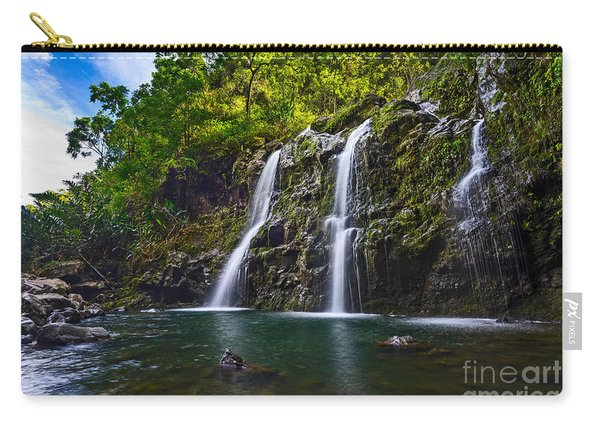 Upper Waikani Falls - The Stunningly Beautiful Three Bears Found In Maui. Carry-all Pouch