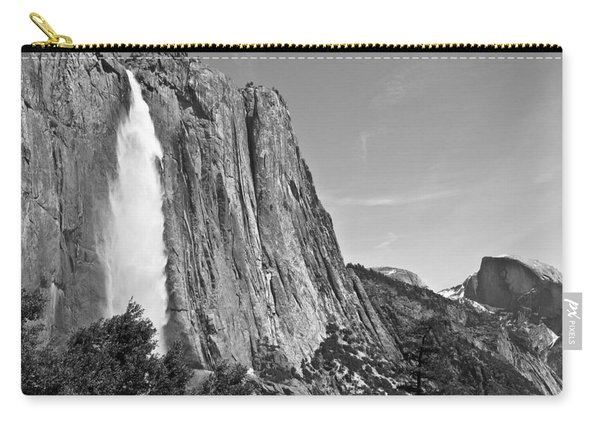 Upper Yosemite Fall With Half Dome Carry-all Pouch