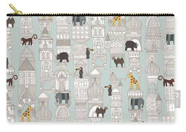 Urban Jungle Silver Carry-all Pouch
