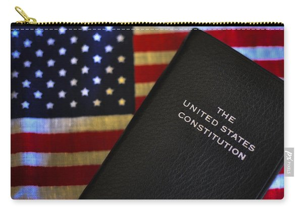 United States Constitution And Flag Carry-all Pouch