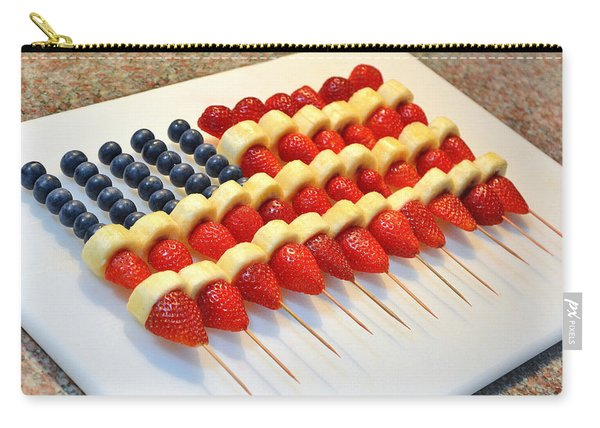 American Flag Fruit Kabobs Carry-all Pouch