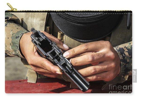 U.s. Marine Assembles The M9 Pistol Carry-all Pouch