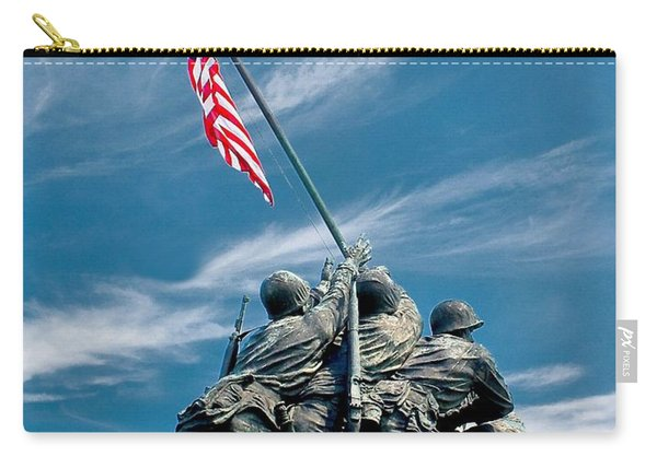 Us Marine Corps War Memorial Carry-all Pouch