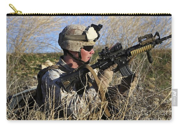 U.s. Marine Reloads His Weapon Carry-all Pouch